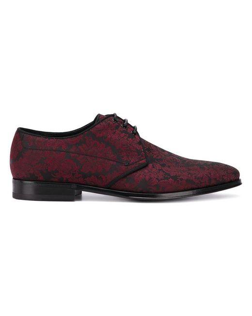 Dolce & Gabbana - Red Schnürschuhe aus Brokat for Men - Lyst