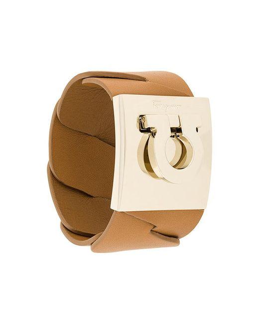Ferragamo   Brown Horseshoe Motif Bracelet   Lyst