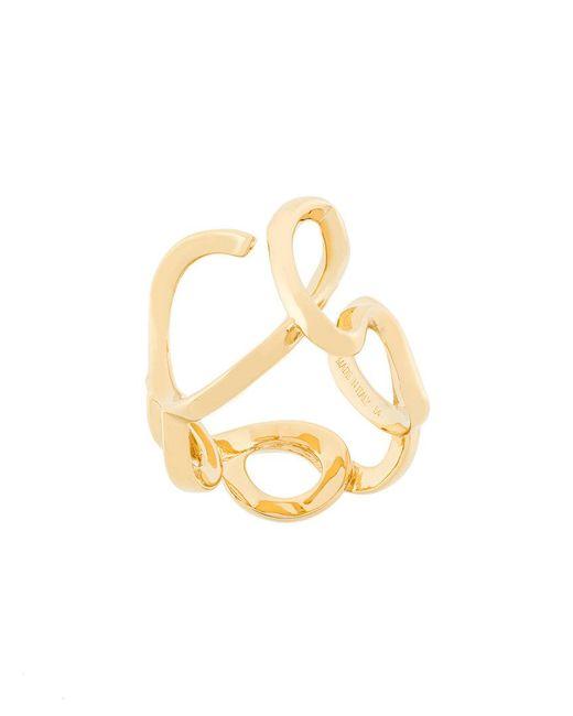 Chloé - Metallic Scroll Ring - Lyst
