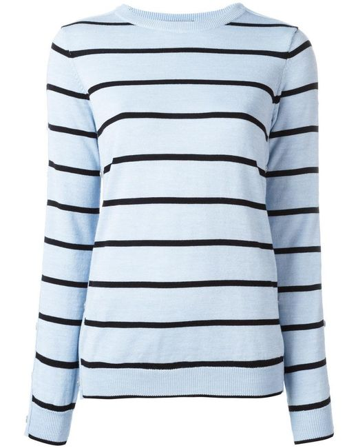 Preen By Thornton Bregazzi - Blue Striped Jumper - Lyst