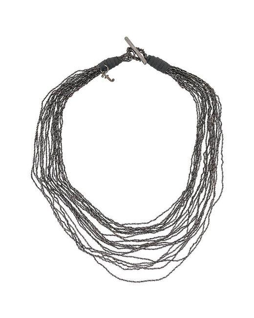 Fabiana Filippi - Gray Multi-strand Necklace - Lyst
