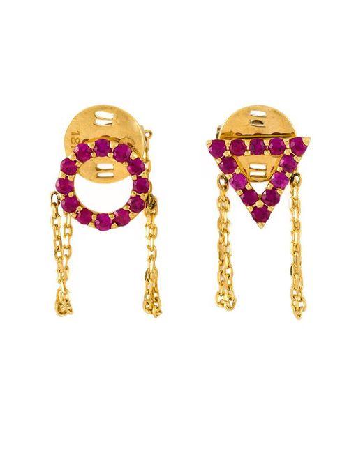 Eshvi | Purple 'july' Ruby Earrings | Lyst