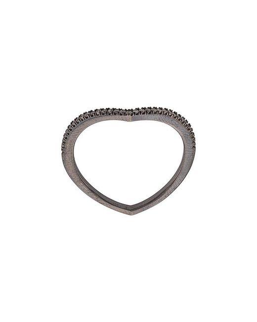 Eva Fehren - Metallic Heart Shaped Diamond Ring - Lyst