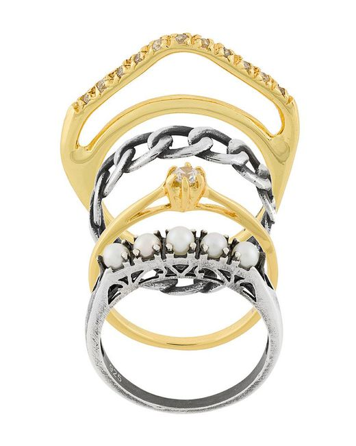 Iosselliani | Metallic Silver Heritage Set Of Four Rings | Lyst