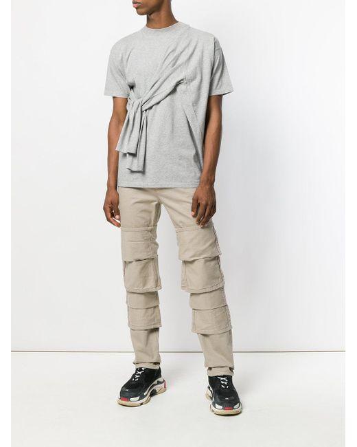 78c6a977636 Lyst - T-shirt à détail plissé Y. Project en coloris Gris