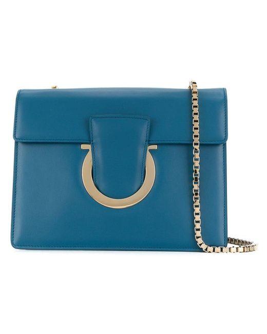 de0a77cead Ferragamo - Blue Thalia Shoulder Bag - Lyst ...