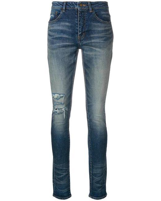 Saint Laurent - Blue Classic Skinny-fit Jeans - Lyst