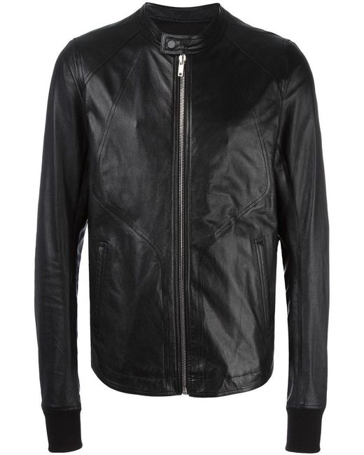 Rick Owens | Black Band Collar Jacket for Men | Lyst