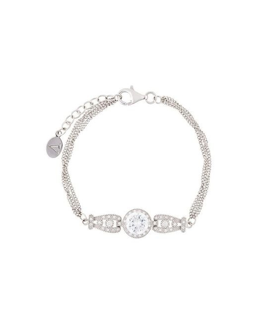 V Jewellery - Metallic Triple Strand Bracelet - Lyst