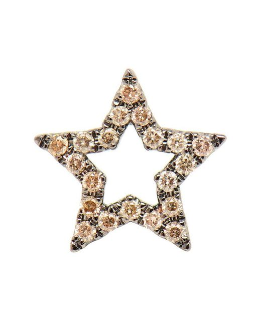 Rosa De La Cruz - Metallic 18k Burnished Gold Diamond Star Earring - Lyst