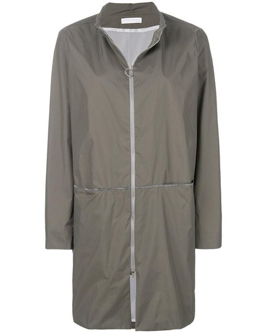 Fabiana Filippi - Gray Zipped Waterproof Coat - Lyst