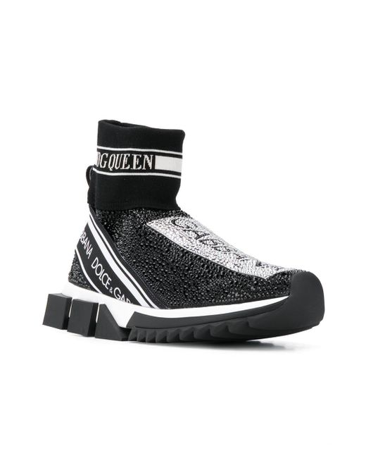 1f2c9ccedb4 Lyst - Zapatillas estilo calcetín Dolce   Gabbana de color Negro