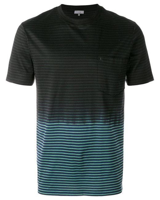 Lanvin Two Tone T-shirt in Blue for Men