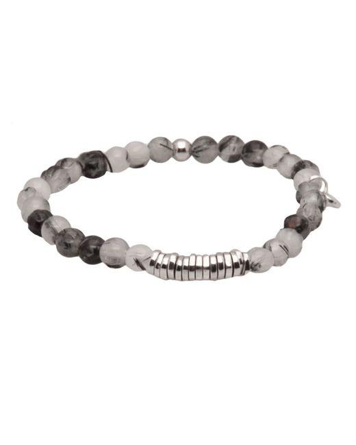 Tateossian | Black Disc Bracelet for Men | Lyst