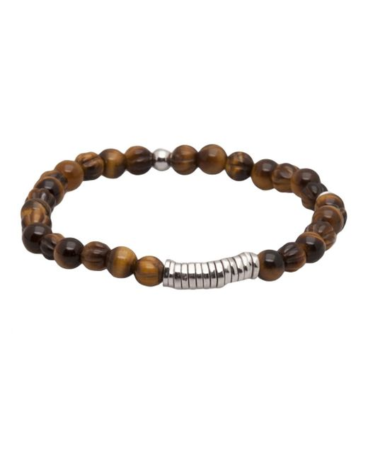 Tateossian | Brown Tigereye Disc Bracelet for Men | Lyst