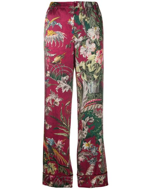 floral print trousers - Pink & Purple F.R.S. For Restless Sleepers LGz7v87Q
