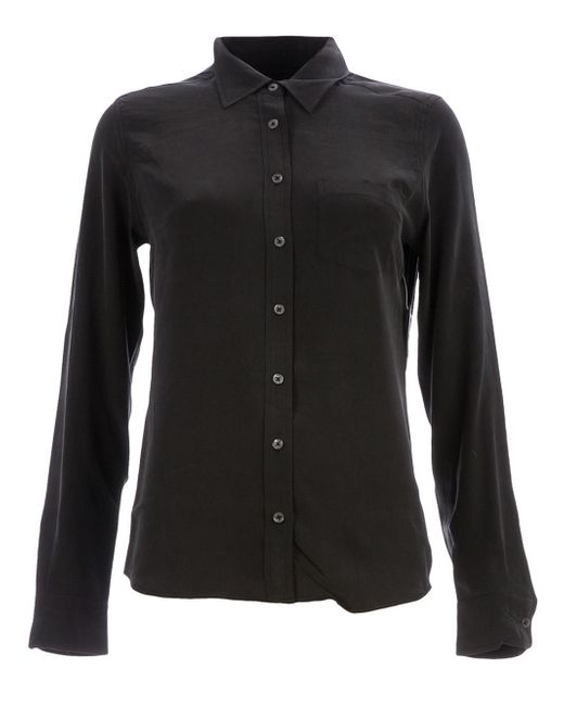 Equipment Leema Lace Trim Tie Neck Blouse In Black Save