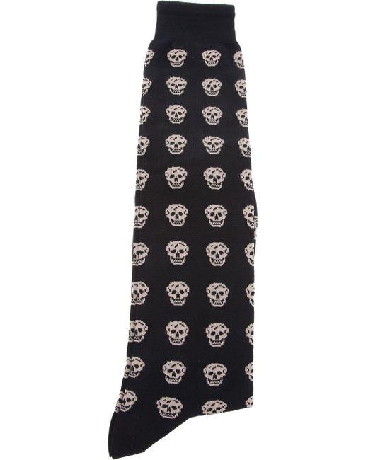 Alexander McQueen | Natural Skull-patterned Cotton-blend Socks for Men | Lyst