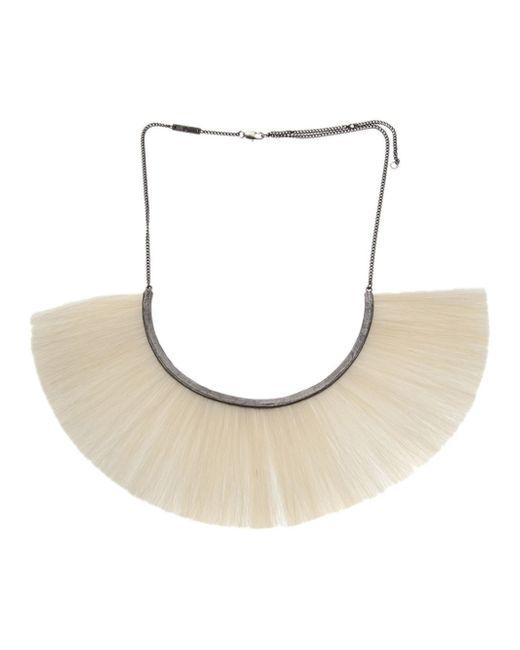 Bjorg | Black Hammered Crescent Necklace | Lyst