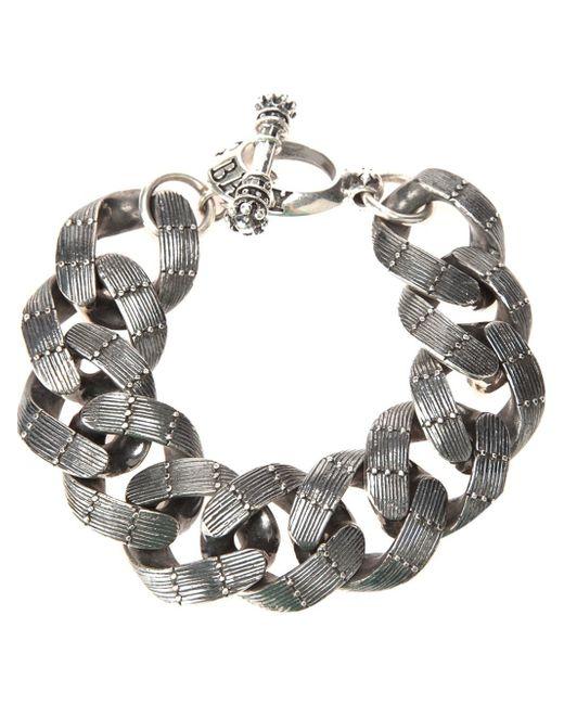 King Baby Studio | Gray Textured Chain Link Bracelet | Lyst