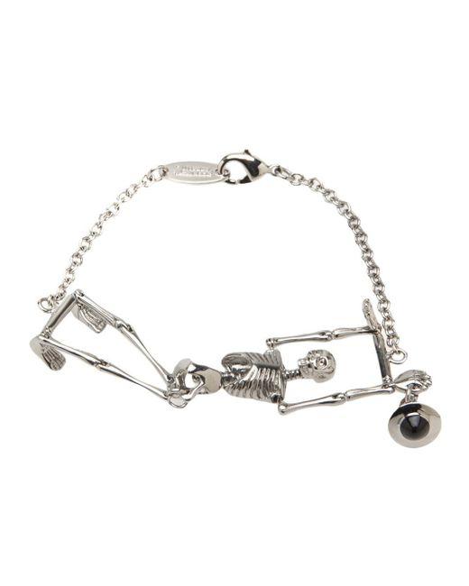 Vivienne Westwood | Metallic Skeleton Pendant Bracelet | Lyst