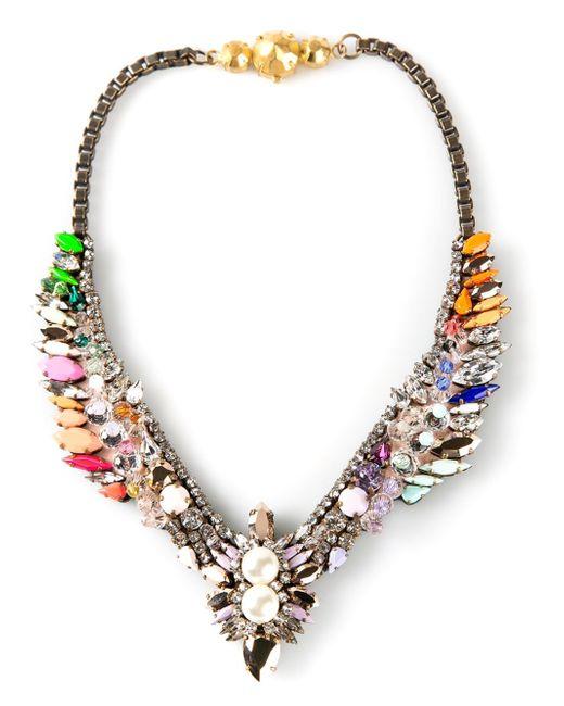 Shourouk | Metallic 'tabatha' Necklace | Lyst