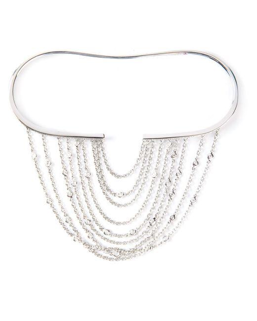 Gaydamak | Metallic Line Fountain Hand Bracelet | Lyst