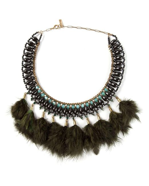 Isabel Marant   Black Feather Necklace   Lyst