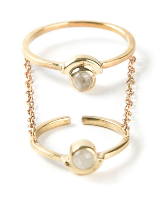 Pamela Love | Metallic 'gravitation' Chain Ring | Lyst