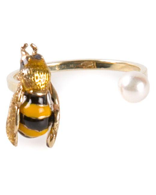 Delfina Delettrez   Metallic 'little Bee' Ring   Lyst