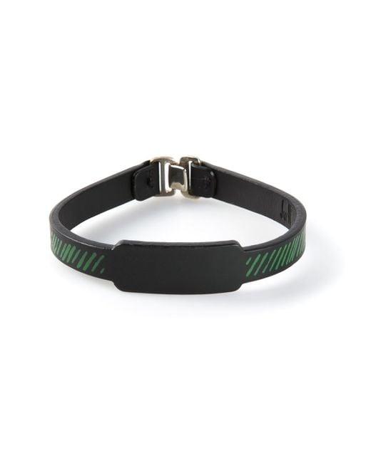 JvdF   Black Hand-painted Repp Stripe Bracelet for Men   Lyst