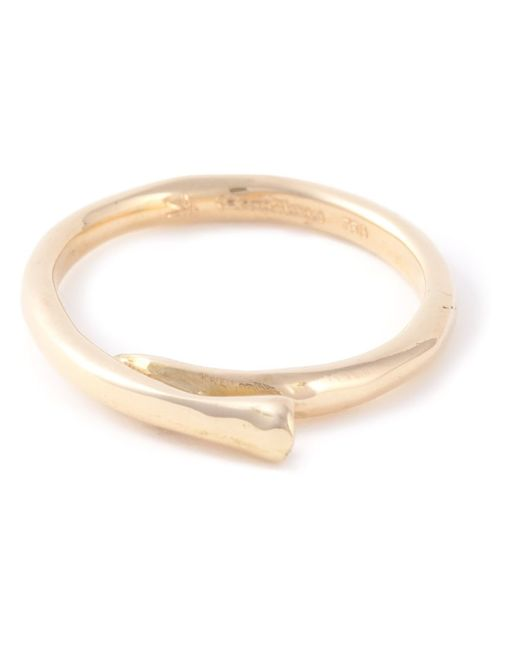 Rosa Maria | Metallic 18kt Gold Diamond Curved Ring | Lyst