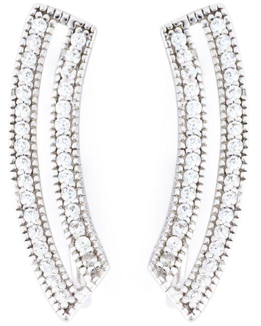 V Jewellery | Metallic Contour Loop Earrings | Lyst
