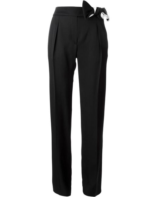 Lanvin | Black Bow Detail Trousers | Lyst