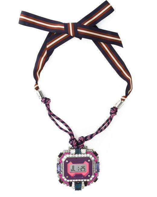 Lanvin | Pink Digital Watch Pendant | Lyst