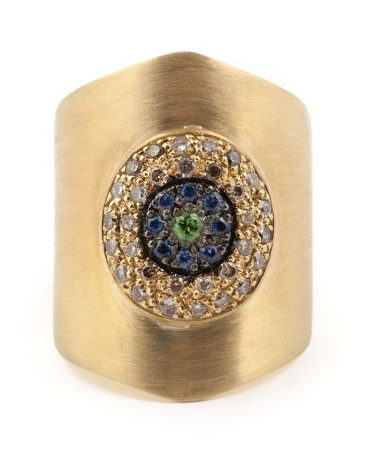 Ileana Makri | Metallic 'round Eye Shield' Ring | Lyst