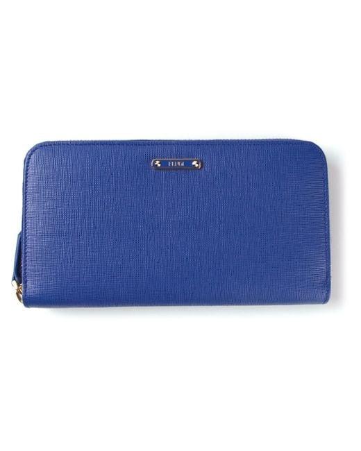 Fendi | Blue 'Crayons' Zip-Around Wallet | Lyst