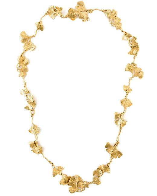 Aurelie Bidermann | Metallic Ginkgo Long Sautoir Necklace | Lyst
