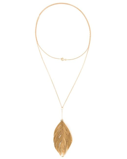 Aurelie Bidermann | Metallic Swan Feather Necklace | Lyst
