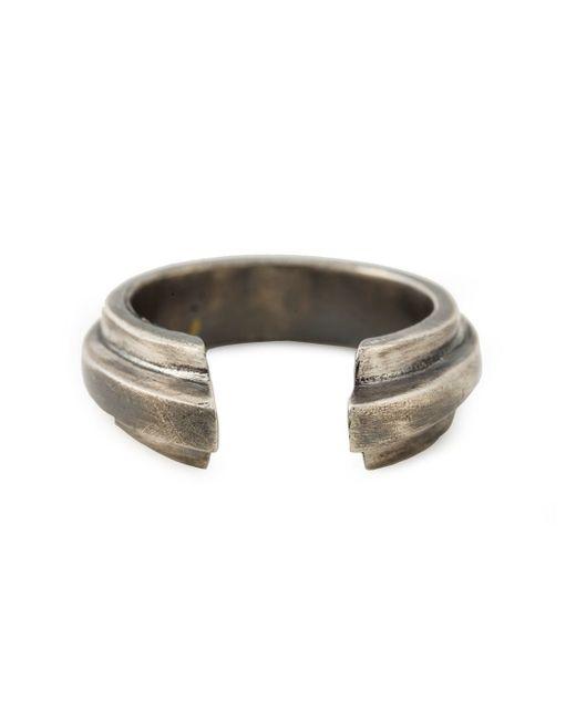 Ann Demeulemeester | Metallic Carved Ring for Men | Lyst