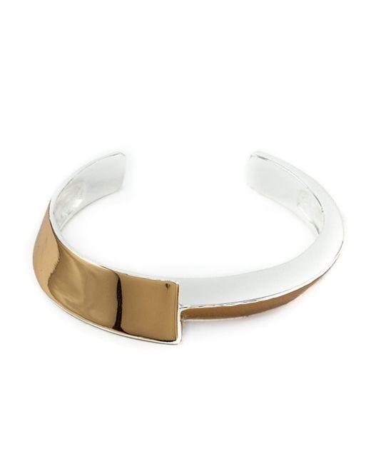 1-100 | Metallic '163' Cuff Bracelet | Lyst
