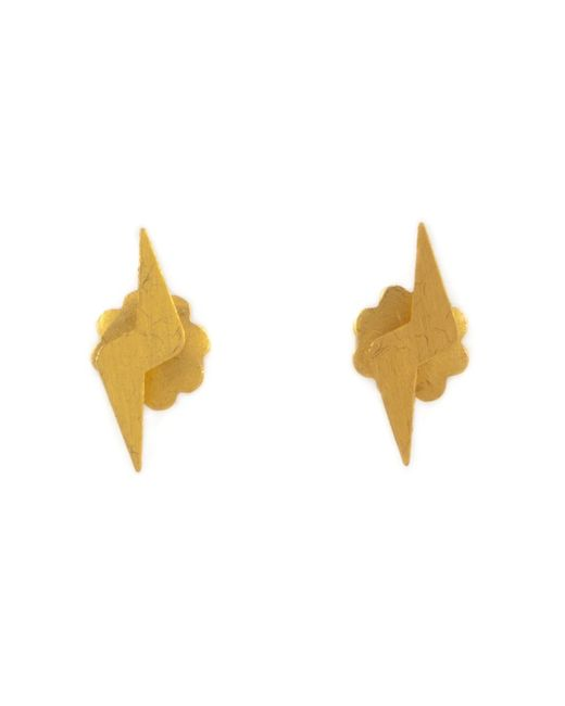 Marie-hélène De Taillac | Metallic Lightning Bolt Earrings | Lyst