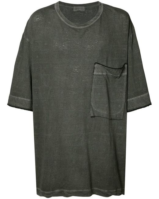 Yohji Yamamoto | Black Loose Big Ink Dye T-shirt for Men | Lyst