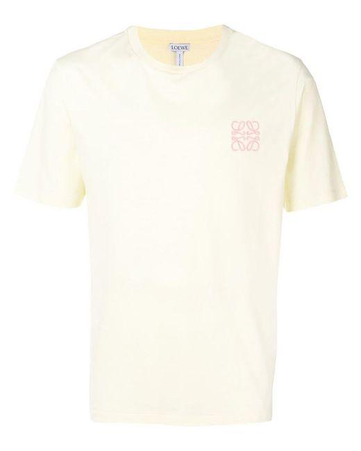 Loewe - Yellow T-Shirt mit Logo-Stickerei for Men - Lyst