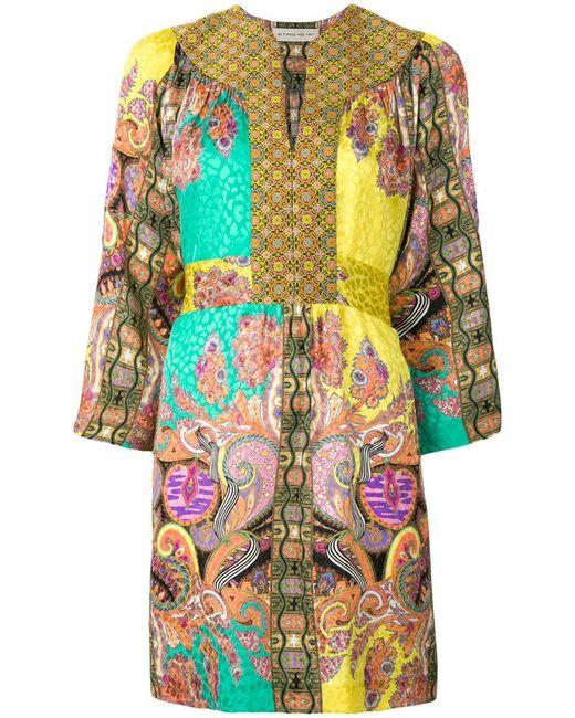 Etro - Multicolor Multi-print Kaftan Dress - Lyst