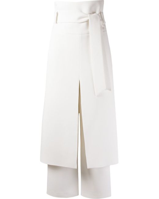 Giuliana Romanno | White Belted Midi Skirt Trousers | Lyst