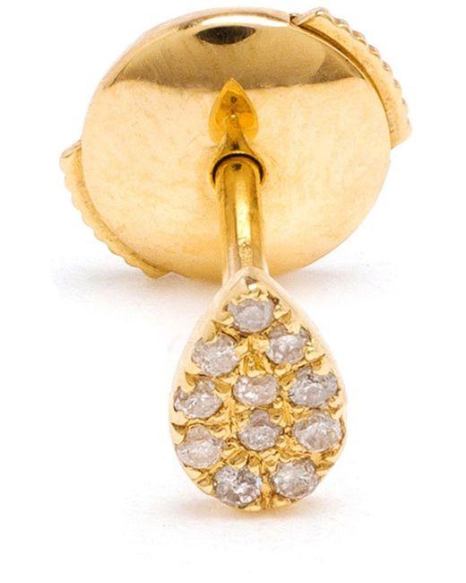 Yvonne Léon   Metallic 18kt Gold And Diamond Pear Stud Earring   Lyst
