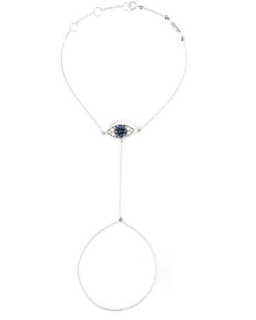 Delfina Delettrez | Metallic 'watch My Hand' Diamond And Sapphire Bracelet | Lyst