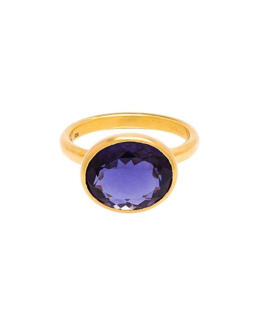 Marie-hélène De Taillac | Metallic 22k Yellow Gold Iolite Ring | Lyst