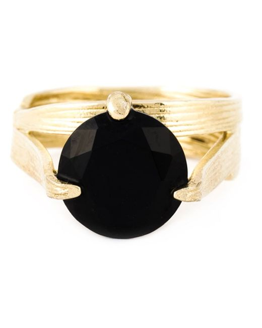 Wouters & Hendrix | Metallic 'bamboo' Onyx Set Of Rings | Lyst